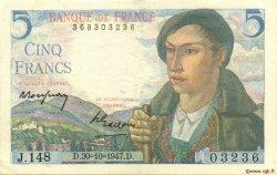 5 Francs BERGER FRANCE  1947 F.05.07 TTB+