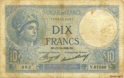 10 Francs MINERVE FRANCE  1936 F.06.17 B+
