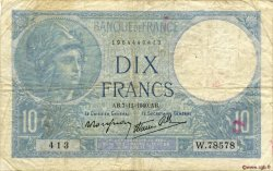 10 Francs MINERVE modifié FRANCE  1940 F.07.19 TB