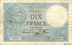 10 Francs MINERVE modifié FRANCE  1941 F.07.28 TB