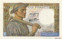 10 Francs MINEUR FRANCE  1944 F.08.10 SPL