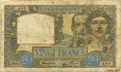 20 Francs SCIENCE ET TRAVAIL FRANCE  1941 F.12.12 B