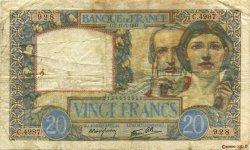 20 Francs SCIENCE ET TRAVAIL FRANCE  1941 F.12.16 TB