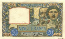 20 Francs SCIENCE ET TRAVAIL FRANCE  1941 F.12.20 SPL