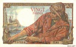 20 Francs PÊCHEUR FRANCE  1943 F.13.07 SUP+
