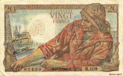 20 Francs PÊCHEUR FRANCE  1944 F.13.08 TTB