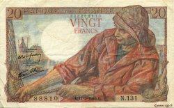 20 Francs PÊCHEUR FRANCE  1944 F.13.09 pr.TTB