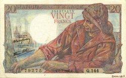 20 Francs PÊCHEUR FRANCE  1945 F.13.10 SUP