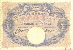 50 Francs BLEU ET ROSE FRANCE  1924 F.14.37 TB+