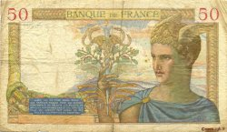 50 Francs CÉRÈS modifié FRANCE  1937 F.18.04 B+
