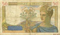 50 Francs CÉRÈS modifié FRANCE  1937 F.18.05 B