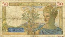 50 Francs CÉRÈS modifié FRANCE  1938 F.18.10 B