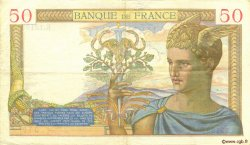 50 Francs CÉRÈS modifié FRANCE  1940 F.18.42 TTB