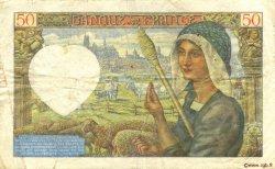50 Francs JACQUES CŒUR FRANCE  1941 F.19.05 TTB