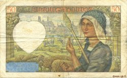 50 Francs JACQUES CŒUR FRANCE  1941 F.19.11 pr.TTB