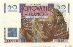 50 Francs LE VERRIER FRANCE  1946 F.20.06 SUP+