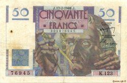 50 Francs LE VERRIER FRANCE  1949 F.20.11 TB+