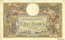 100 Francs LUC OLIVIER MERSON grands cartouches FRANCE  1929 F.24.08 B à TB