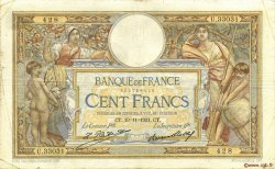 100 Francs LUC OLIVIER MERSON grands cartouches FRANCE  1931 F.24.10 B+
