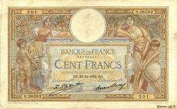 100 Francs LUC OLIVIER MERSON grands cartouches FRANCE  1932 F.24.11 B à TB