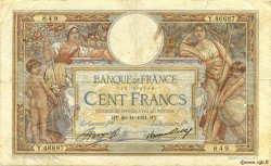 100 Francs LUC OLIVIER MERSON grands cartouches FRANCE  1934 F.24.13 B à TB