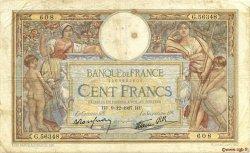 100 Francs LUC OLIVIER MERSON type modifié FRANCE  1937 F.25.05 B+
