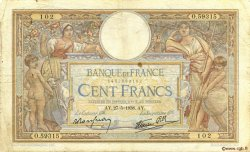 100 Francs LUC OLIVIER MERSON type modifié FRANCE  1938 F.25.20 B