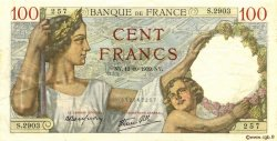 100 Francs SULLY FRANCE  1939 F.26.10 TTB+