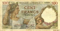 100 Francs SULLY FRANCE  1939 F.26.18 TB+