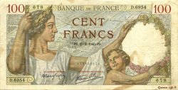 100 Francs SULLY FRANCE  1940 F.26.21 TB