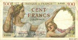 100 Francs SULLY FRANCE  1940 F.26.24 TTB