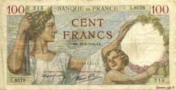 100 Francs SULLY FRANCE  1940 F.26.25 TB