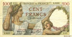 100 Francs SULLY FRANCE  1940 F.26.25 TTB