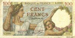 100 Francs SULLY FRANCE  1940 F.26.28 TTB