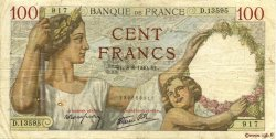 100 Francs SULLY FRANCE  1940 F.26.35 TB