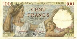 100 Francs SULLY FRANCE  1940 F.26.38 TTB+