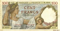 100 Francs SULLY FRANCE  1940 F.26.40 TTB
