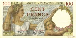 100 Francs SULLY FRANCE  1941 F.26.46 TTB+