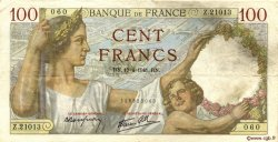 100 Francs SULLY FRANCE  1941 F.26.50 TTB