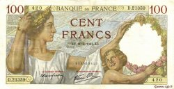 100 Francs SULLY FRANCE  1941 F.26.51 TTB+