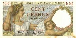 100 Francs SULLY FRANCE  1942 F.26.65 SPL