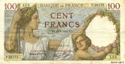 100 Francs SULLY FRANCE  1942 F.26.65 TTB
