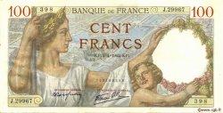 100 Francs SULLY FRANCE  1942 F.26.69 TTB+