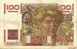 100 Francs JEUNE PAYSAN FRANCE  1946 F.28.11 TB+
