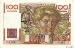 100 Francs JEUNE PAYSAN FRANCE  1949 F.28.21 SUP