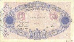 500 Francs BLEU ET ROSE FRANCE  1929 F.30.32 TB+