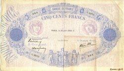 500 Francs BLEU ET ROSE modifié FRANCE  1938 F.31.15 TTB