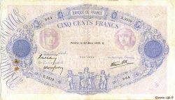 500 Francs BLEU ET ROSE modifié FRANCE  1939 F.31.29 pr.TB