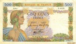 500 Francs LA PAIX FRANCE  1941 F.32.25 TTB