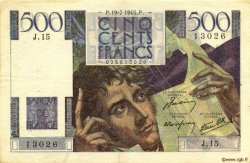 500 Francs CHATEAUBRIAND FRANCE  1945 F.34.01 TTB